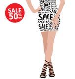 Sale och mode vektor illustrationer