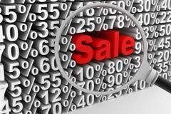Sale och procentsatser vektor illustrationer