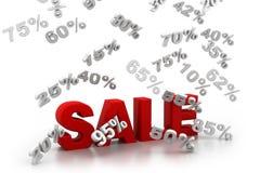 Sale och procentsatser royaltyfri illustrationer