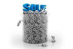 Sale och procentsatser stock illustrationer