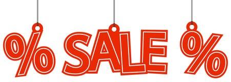 Sale och procentsatshangtags Royaltyfri Fotografi