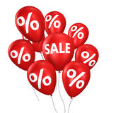 Sale och rabattshoppingballonger Royaltyfria Bilder