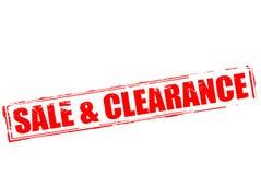 Sale och rensning royaltyfri illustrationer