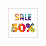 Sale 50% off color quote for business discount Stock Photography
