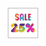 Sale 25% off color quote for business discount Stock Photos