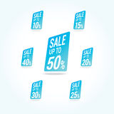 Sale 50 Off Labels Stock Image
