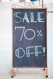 Sale 70 % off sign Royalty Free Stock Photography