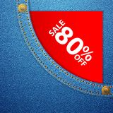 Denim pocket and sale eighty off Stock Image
