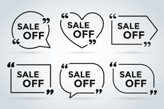 Sale Off vector tags label banner icons Royalty Free Stock Photography