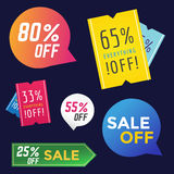 Sale Off vector tags label banner icons Stock Photography