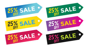 Sale Off vector tags label banner icons Royalty Free Stock Images