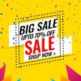 Sale Offer Banner Design - vector banner template stock illustration