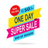 Sale offer discount fifty isolated. On a white background Stock Images