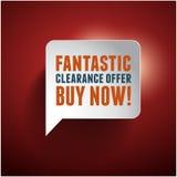 Sale offer old retro vintage bubble Stock Photo