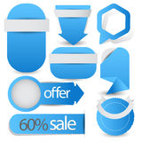 Sale or offer user interface collection for advertisement Royalty Free Stock Photos