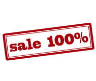 Sale one hundred percent Royalty Free Stock Images