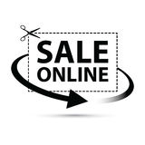 Sale online arrow sign Royalty Free Stock Photography