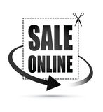 Sale online arrow sign Royalty Free Stock Image