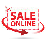 Sale online arrow sign Royalty Free Stock Images