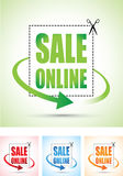 Sale online arrow sign set Royalty Free Stock Photos
