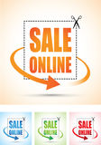 Sale online arrow sign set Stock Photo