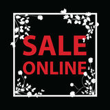 Sale online sign Stock Photography