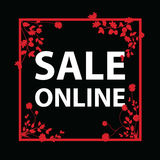 Sale online sign Royalty Free Stock Photos