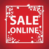 Sale online sign Royalty Free Stock Images