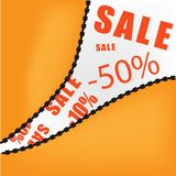 Sale opening background. Sale opening concept vector background Stock Image