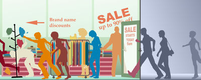 Sale opens Stock Photos