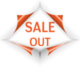 Sale out curled corners Royalty Free Stock Photos