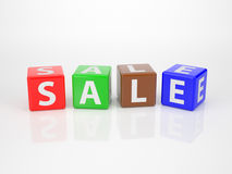 Sale out of Letter Dices Royalty Free Stock Photography