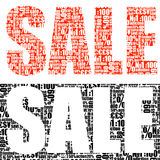 SALE outlay printing Royalty Free Stock Images