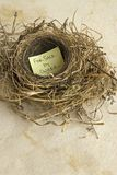 For sale by owner. Empty nest with a message, For Sale by Owner Royalty Free Stock Photography