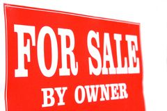 For sale by owner. A sign for sale by owner Stock Photography