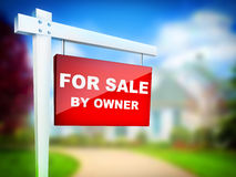 For Sale by Owner. Real Estate Tablet - For Sale by Owner stock illustration