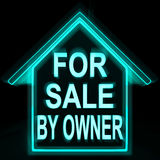 For Sale By Owner Home Means No Commission Stock Photos