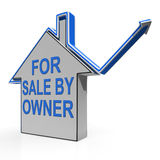For Sale By Owner House. Meaning No Representation By Agent stock illustration