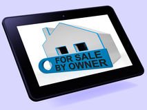 For Sale By Owner House Tablet Means No Real Estate Agent Stock Photos
