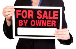 For sale by owner real estate sign Stock Photo