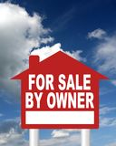 For sale by owner sign Royalty Free Stock Images