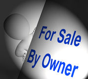 For Sale By Owner Sign Displays Listing And Selling. For Sale By Owner Sign Displaying Listing And Selling Stock Photo