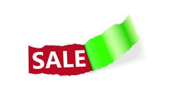 Sale Page Corner Stock Photo