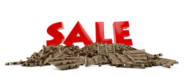 Sale on pallets Stock Photo