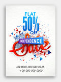Sale Pamphlet for American Independence Day. Stock Image