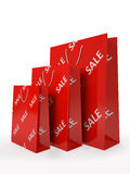 Sale paper bags  Royalty Free Stock Photography