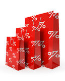 Sale paper bags  Stock Image