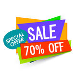 Sale Paper Banner, Poster or Flyer design. Royalty Free Stock Image