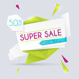 Sale paper banner. Sale and discounts. Super Sale and special of Royalty Free Stock Image