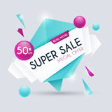 Sale paper banner. Sale and discounts. Super Sale and special of Royalty Free Stock Photo